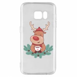 Чехол для Samsung S7 Deer tea party