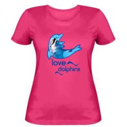 Женская футболка Дельфин