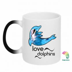 Кружка-хамелеон Дельфін