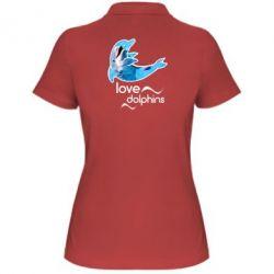 Женская футболка поло Дельфин