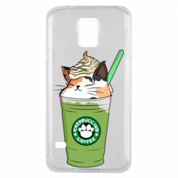 Чехол для Samsung S5 Delicious cat