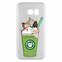 Чехол для Samsung S6 EDGE Delicious cat
