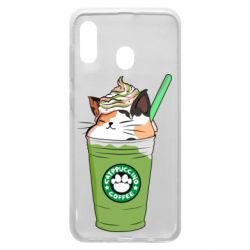 Чехол для Samsung A20 Delicious cat