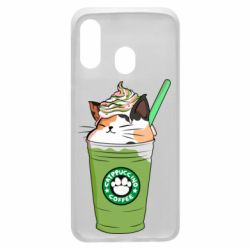 Чехол для Samsung A40 Delicious cat