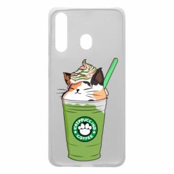 Чехол для Samsung A60 Delicious cat