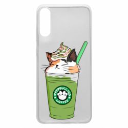 Чехол для Samsung A70 Delicious cat