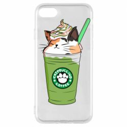 Чехол для iPhone 7 Delicious cat