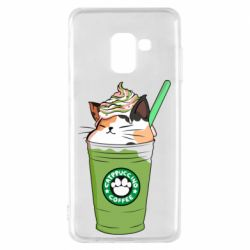 Чехол для Samsung A8 2018 Delicious cat