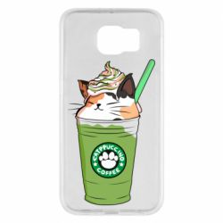 Чехол для Samsung S6 Delicious cat