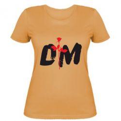 Женская футболка depeche mode logo