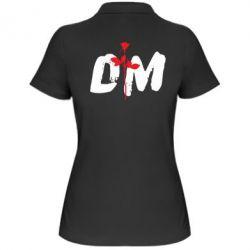 Женская футболка поло depeche mode logo - FatLine