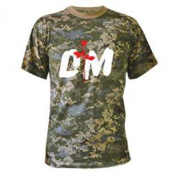 Камуфляжная футболка depeche mode logo