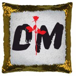 Подушка-хамелеон depeche mode logo