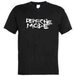 Мужская футболка  с V-образным вырезом Depeche mode - FatLine