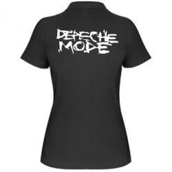 Женская футболка поло Depeche mode