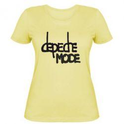 Женская футболка Депеш Мод