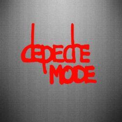 Наклейка Депеш Мод - FatLine