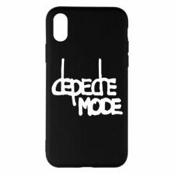Чехол для iPhone X Депеш Мод - FatLine