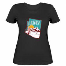 Жіноча футболка Desert and cacti