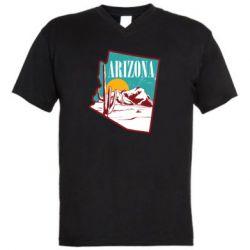 Чоловіча футболка з V-подібним вирізом Desert and cacti