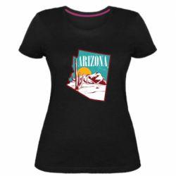 Жіноча стрейчева футболка Desert and cacti