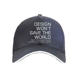 Кепка Design won't save the world