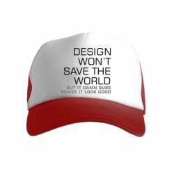 Дитяча кепка-тракер Design won't save the world