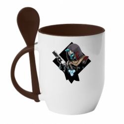 Кружка з керамічною ложкою Destiny 2 Cayde 6