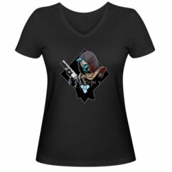 Жіноча футболка з V-подібним вирізом Destiny 2 Cayde 6