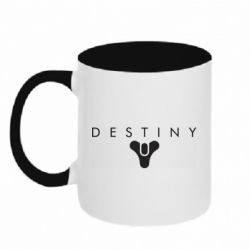 Кружка двоколірна 320ml Destiny logo 2 title