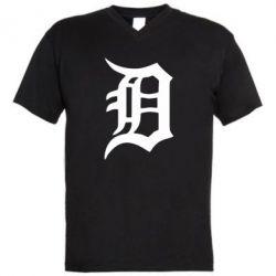Мужская футболка  с V-образным вырезом Detroit Eminem - FatLine