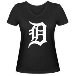 Женская футболка с V-образным вырезом Detroit Eminem - FatLine