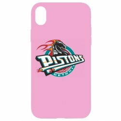 Чехол для iPhone XR Detroit Pistons Logo - FatLine