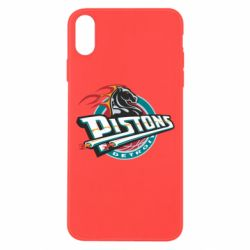 Чехол для iPhone Xs Max Detroit Pistons Logo - FatLine