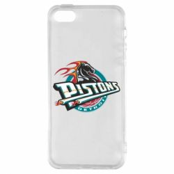 Чехол для iPhone5/5S/SE Detroit Pistons Logo - FatLine