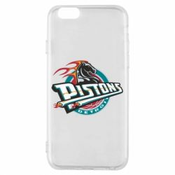 Чехол для iPhone 6/6S Detroit Pistons Logo - FatLine