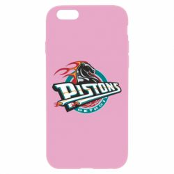 Чехол для iPhone 6 Plus/6S Plus Detroit Pistons Logo - FatLine