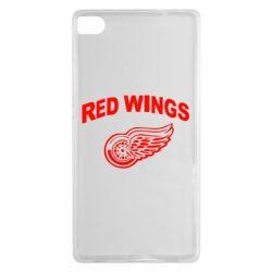 Чехол для Huawei P8 Detroit Red Wings - FatLine