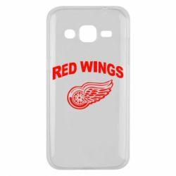 Чехол для Samsung J2 2015 Detroit Red Wings