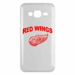 Чехол для Samsung J3 2016 Detroit Red Wings