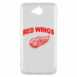 Чехол для Huawei Y6 Pro Detroit Red Wings - FatLine