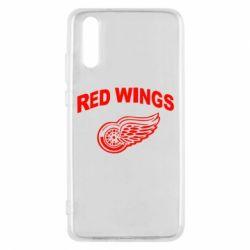 Чехол для Huawei P20 Detroit Red Wings - FatLine