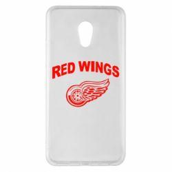Чехол для Meizu Pro 6 Plus Detroit Red Wings - FatLine
