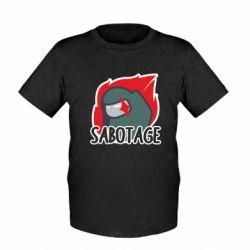 Дитяча футболка Among Us Sabotage
