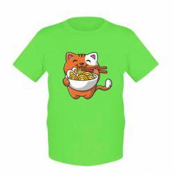 Дитяча футболка Cat and Ramen