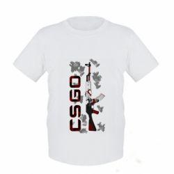 Детская футболка CSGO and gun