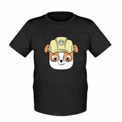 Дитяча футболка Dog in helmet