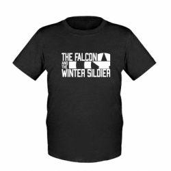Дитяча футболка Falcon and winter soldier logo