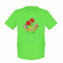 Детская футболка Flowers and Butterflies