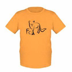 Дитяча футболка Fo vector